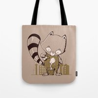 groot Tote Bags featuring Grow Groot by Manfred Maroto