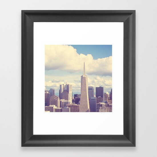 Pyramid in the Sky Framed Art Print