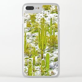 Frosty Tall Ones Clear iPhone Case