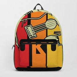 Ukulele retro musical instrument guitar Backpack