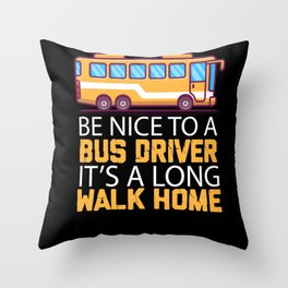 Bus Bus Driver School Bus Bus Driver Shirt Buses Throw Pillow