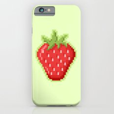 Pixel Strawberry iPhone 6s Slim Case