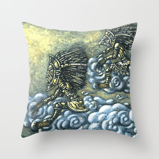 Sky Riders Throw Pillow