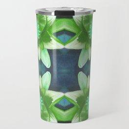 Teal Green Bromeliad Pattern Travel Mug