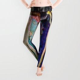 Paint drip cool colors Leggings