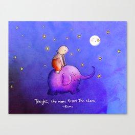 Moon Kisses Canvas Print