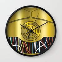c3po Wall Clocks featuring Star Wars C3PO Vector by ironman52885