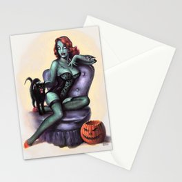 Halloween Zombie Girl Pin Up Stationery Cards