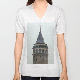Galata Tower Unisex V-Neck