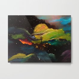 Galaxy Discing Metal Print