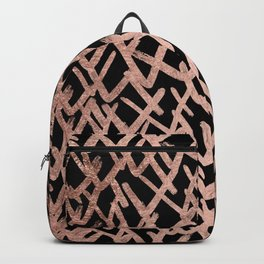 Modern abstract geometric faux rose gold pattern Backpack