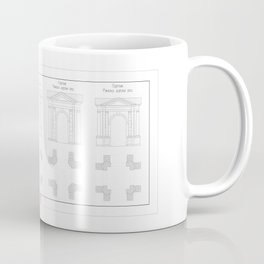 five types of classical portico Coffee Mug