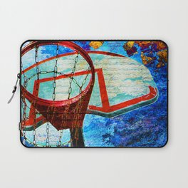 Colorful Modern Basketball Art Laptop Sleeve