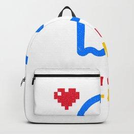 Have you seen Pac-Mac? Ironic gamer shirt Backpack