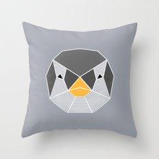 Grafic Penguin Throw Pillow