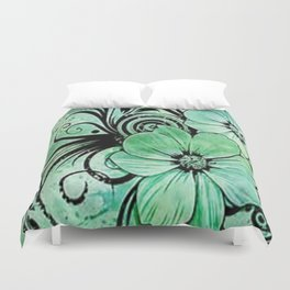 paint the fleur Duvet Cover