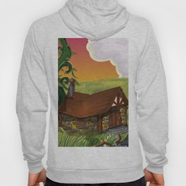Jack and the Beanstalk Cottage in the evening Hoody