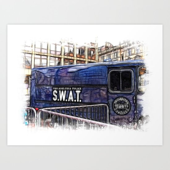World War Z Swat Van Art Print