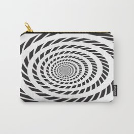 BLACK LICORICE TWIST SWIRL Abstract Art Carry-All Pouch