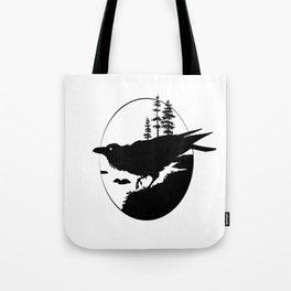 Raven Silhouette II Tote Bag