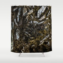 Shattered Wood Shower Curtain