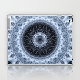 Silver and gray mandala Laptop & iPad Skin