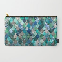 Mermaid Pattern, Sea,Teal, Mint, Aqua, Blue Carry-All Pouch