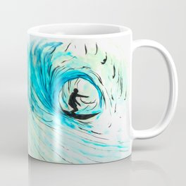Surfer in blue Coffee Mug
