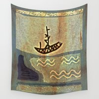 boat Wall Tapestries featuring Boat by Menchulica
