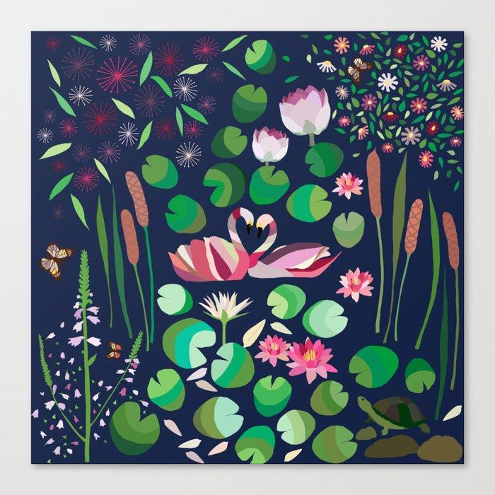 Pond Affair in color Canvas Print