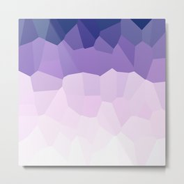 Purple Watercolor Crystals Metal Print