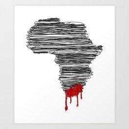 South Africa Bleeds Art Print