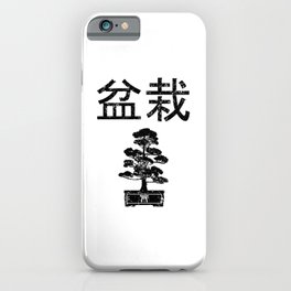 Bonsai Tree Japanese Lettering Retro Gardener Gift iPhone Case