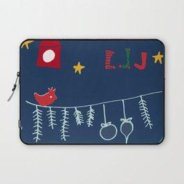 Holiday bird blue Laptop Sleeve