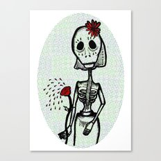 Love and bones Canvas Print