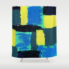 Abstract Expression No. 13 Shower Curtain
