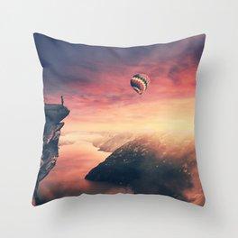 silhouette on the edge Throw Pillow