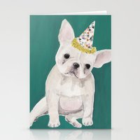 puppies Stationery Cards featuring Party puppies  by Jackie Diedam