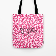Neon Pink Chic Leopard Print Girly Zigzag Pattern Tote Bag