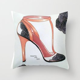 Stepping with Style Throw Pillow