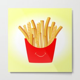 French Fries City Metal Print