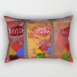 Spray Paint Cans Rectangular Pillow