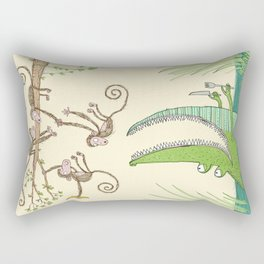 'Dinner time!' Rectangular Pillow