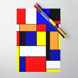 Mondrian #1 Wrapping Paper