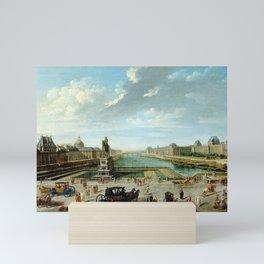 Nicolas-Jean-Baptiste Raguenet A View of Paris from the Pont Neuf Mini Art Print