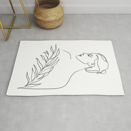 Just breathe (with a leaf) Rug