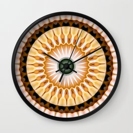 Yellow Daisy Kaleidoscope Wall Clock