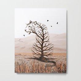 Tiger Tree Illusion Metal Print