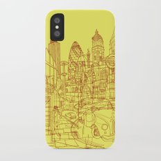 London! Yellow/Red Slim Case iPhone X