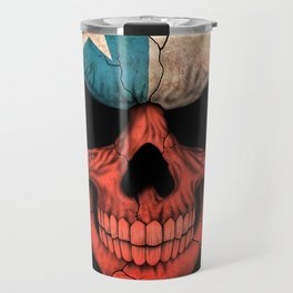 Dark Skull with Flag of Chile Travel Mug